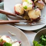 Steamed Red Potatoes with Parsley