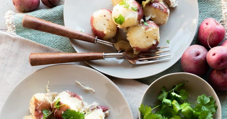 Steamed Red Potatoes with Herb Compound Butter