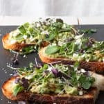 Avocado toast on a plate