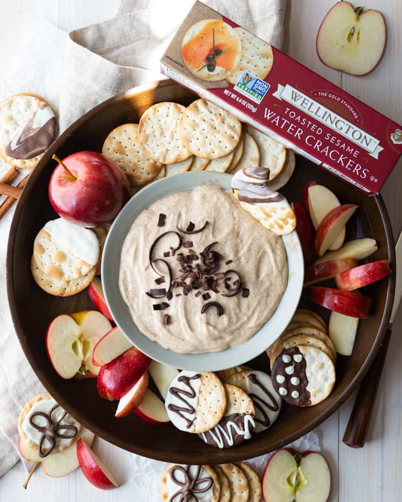 Creamy Cinnamon Churro Dip with Wellington Crackers