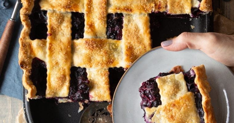 Classic Blueberry Slab Pie with Challenger Breadware