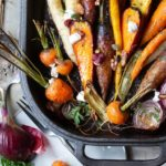 roasted carrots in cast iron