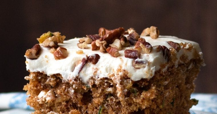 The Best Zucchini Spice Cake with Cream Cheese Frosting