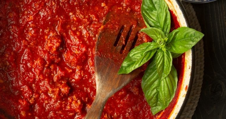 Easy Family Style Sunday Spaghetti Sauce: Perfect On Everything!