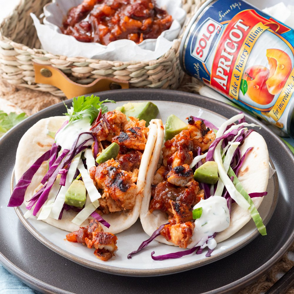 Chopped Chicken Tacos Árabes With A Sweet & Smoky Solo Twist