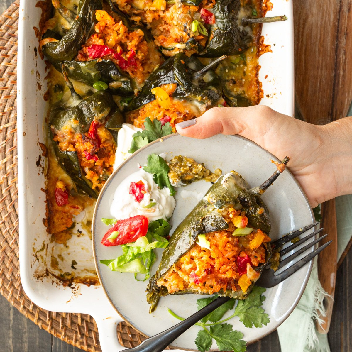 On The Border Fire-Roasted Stuffed Poblano Peppers