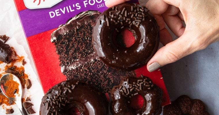 Sweet & Spicy Devil's Food Cake Donuts With Duncan Hines