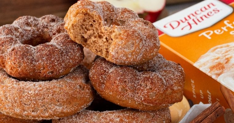 Baked Apple Cider Donuts With Duncan Hines Cake Mix